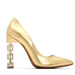 New Katy Perry The Susie Gold Pumps